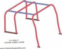 Extreme Custom Fabrication - CJ FREE SHIPPING Willys Jeep Full Family Roll Cage Kit 55-86 CJ5 CJ2 CJ3 MB