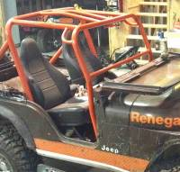 Extreme Custom Fabrication - CJ5 Front Roll Cage Add-On Jeep with Extras ! FREE SHIPPING CJ2 CJ3 Willys MB M38